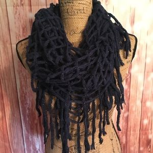 NWT Mixit fringed infinity scarf